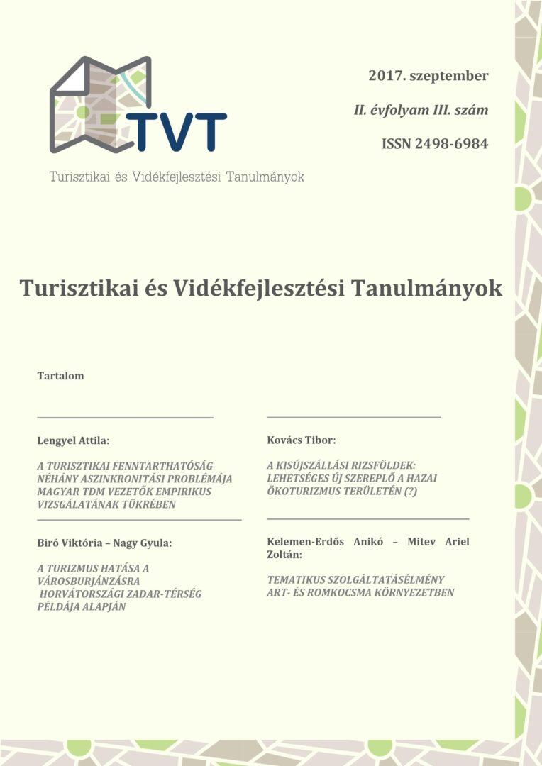 Turisztikai és Vidékfejlesztési Tanulmányok II. évfolyam 3. szám