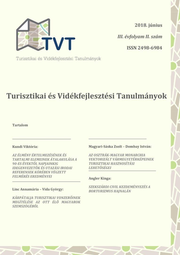 Turisztikai és Vidékfejlesztési Tanulmányok III. évfolyam 2. szám