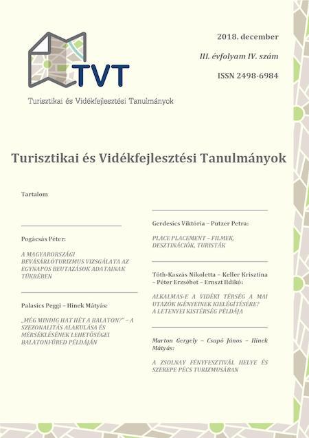 Turisztikai és Vidékfejlesztési Tanulmányok III. évfolyam 4. szám
