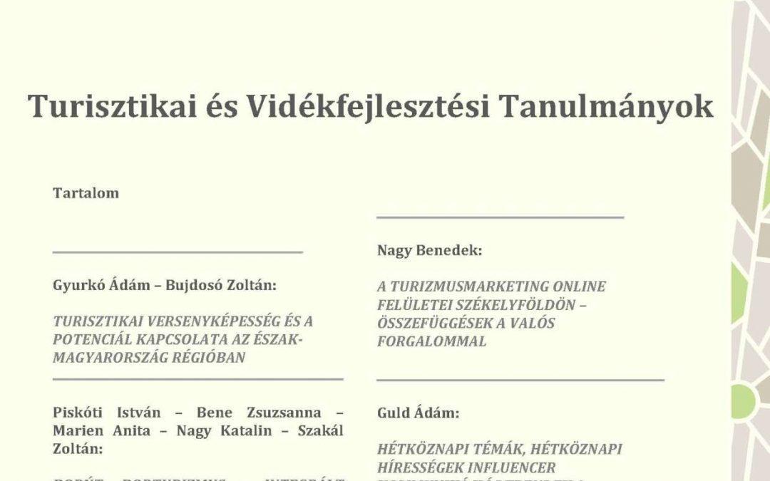 Turisztikai és Vidékfejlesztési Tanulmányok IV. évfolyam 2. szám