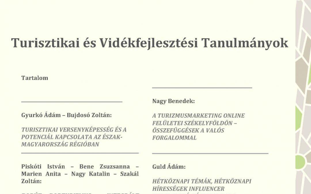 Turisztikai és Vidékfejlesztési Tanulmányok IV. évfolyam 3. szám